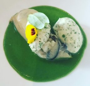 Oyster dish at Jardin des Remparts